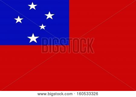 Samoa flag ,3D Samoa national flag illustration symbol.