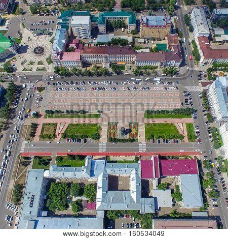 Ulan-ude, Russia - August 02, 2015: Ulan-Ude city a capital in buryatia at summer