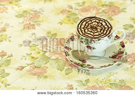 Hot coffee in the morning cappuccino, wilt, dessert, warm, milk, latte,