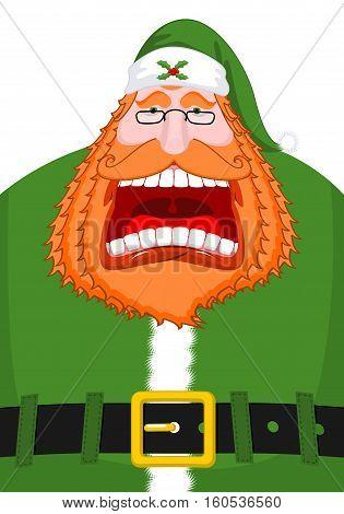 Irish Santa (daddy Of Christmas). Santa Claus Ireland ( Daidi Na Nollag ) Irish Language. Christmas