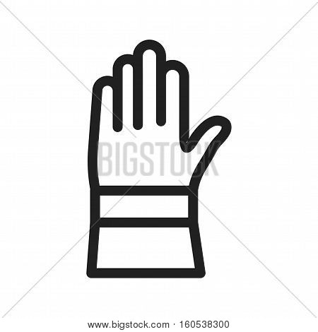 Firefighter, gloves, equipment icon vector image. Can also be used for firefighting. Suitable for web apps, mobile apps and print media.