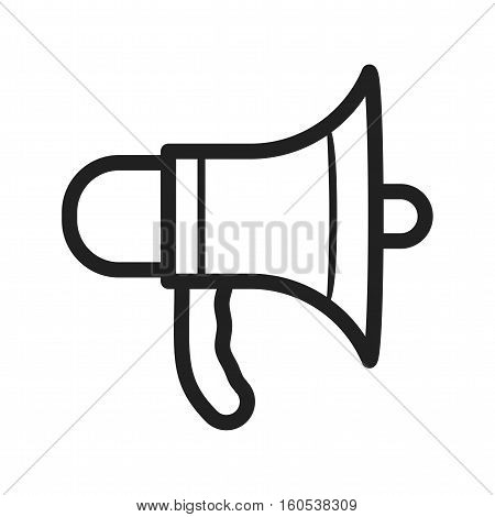 Megaphone, firefighting, speaker icon vector image. Can also be used for firefighting. Suitable for web apps, mobile apps and print media.
