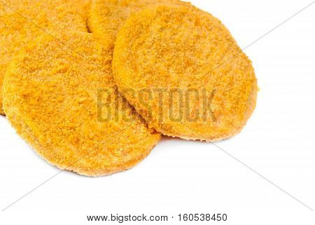 fish burgers macrio isolated on white background