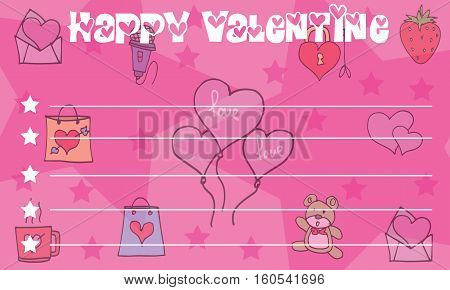 Love balloon greeting card valentine collection stock