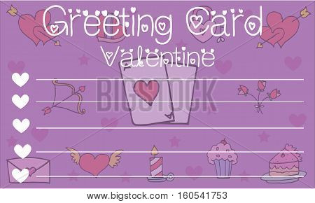 Greeting card valentine style collection stock vector art