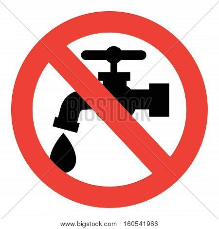 Save water sign water tap save sign close off turn