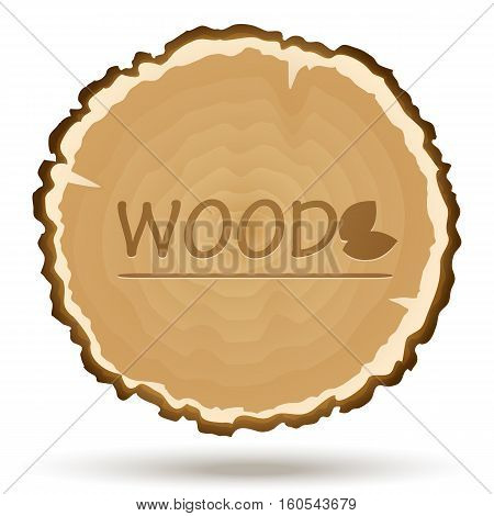 Vector wood cut. Wooden background for your design