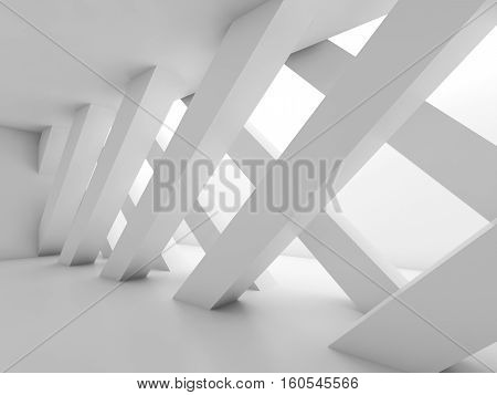 Abstract Empty Room With Partition 3 D