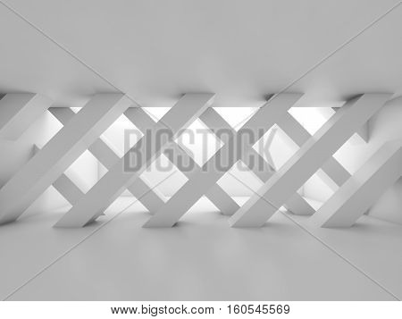 3D Interior, Partition Made Of Diagonal Girders