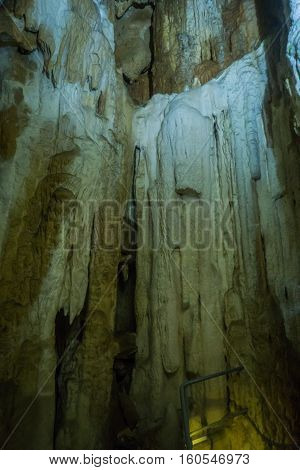 Speleothems in solutional karst cave. Emine-Bair-Khosar, Chather-Dag, Crimea