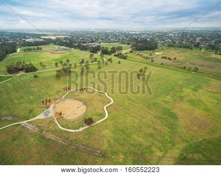 Aerial View Of Bicentennial Park