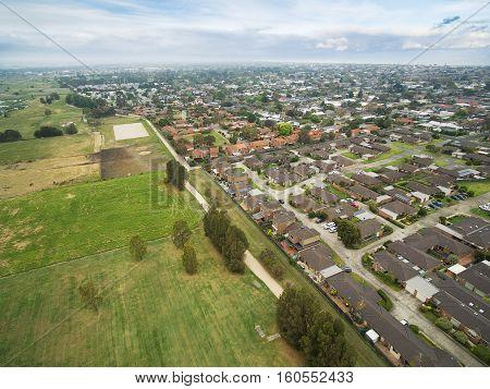 Aerial View Of Chelsea, Melbourne, Australia