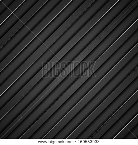 Abstract tech black diagonal stripes vector concept background