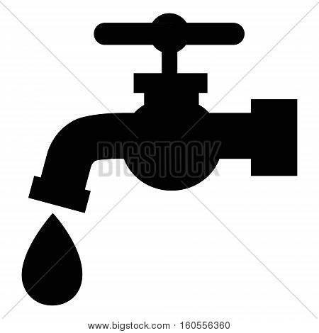 tap faucet water vector icon drip symbol