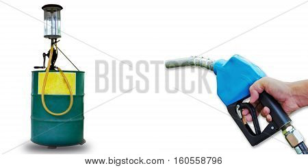 Oil pump tube Pump tube on white for design.