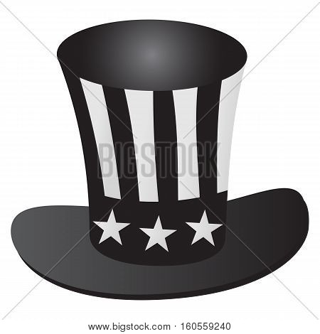 Uncle Sam's hat 4th July celebration grayscale icon