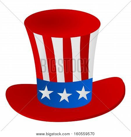 Uncle Sam's hat 4th July celebration icon