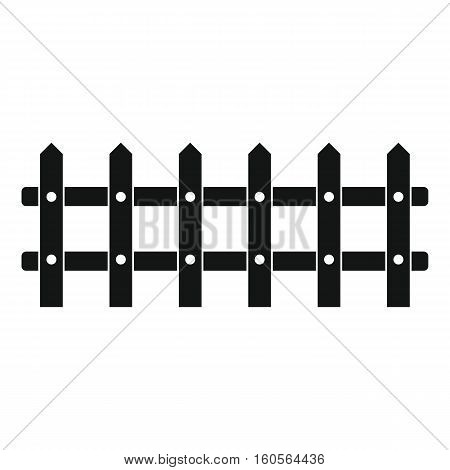 Cartoon flat fence isolated on white background. element for agro design.