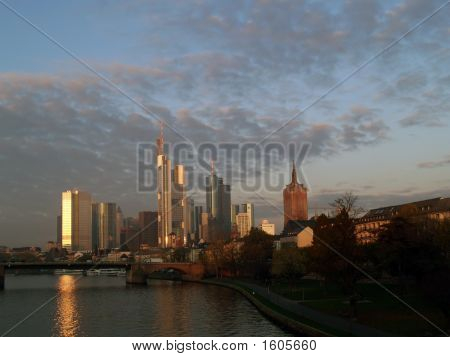 frankfurt skyline made of modern