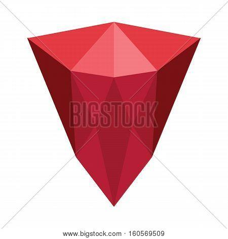 Cartoon realistic gems jewels diamond brilliant vector. Gemstone and crystal precious glass elements illustration