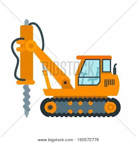 Drilling, equipment, construction icon vector image. Can also be used for Industrial Process. Suitable for mobile apps, web apps and print media.