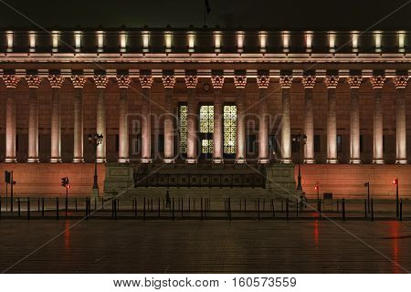 Lyon, France, December 7, 2016 : Lights On The Palais De Justice. The Festival Of Lights (french: Fe