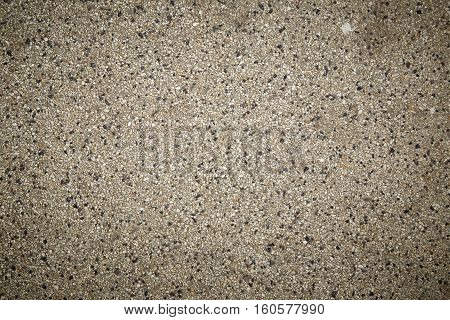 rough texture surface of exposed aggregate finish Ground stone washed floor made of small sand stone in light gray color