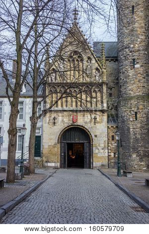 Entrance To The Church Of Our Lady In Maastricht