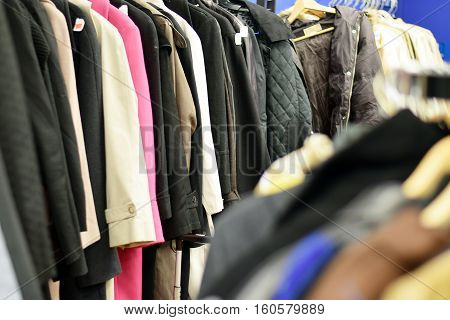 Racks Of Stylish Used Clothing