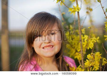 Smiling Forsythia girl