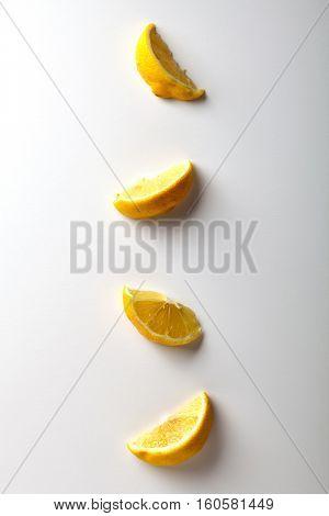 Lemon Slices. Flat Lay