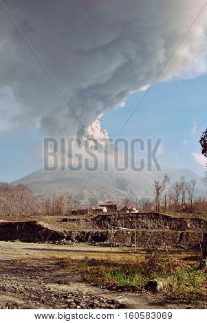 The 2010 eruptions of Mount Merapi began in late October 2010 when Mount Merapi in Central Java, Indonesia began an increasingly violent series of eruptions that continued into November. Seismic activity around the volcano increased from mid-September onw