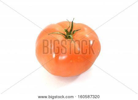 Bright Red Organic Fresh Heirloom Tomato