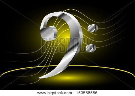 bass clef , Music note stave and bass clef