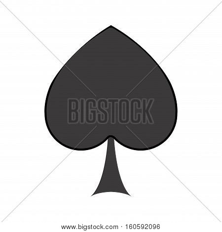 Spade icon. Card game poker win chance and casino theme. Isolated design. Vector illustration