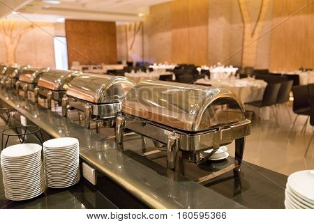 Lunch Dinner Buffet Food In Hotel Restaurant