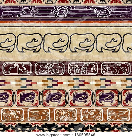 Vintage Ethnic seamless texture. Bright tribal style