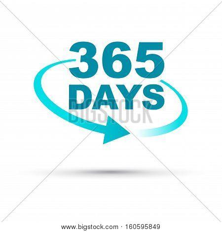 a blue 365 days a year icon