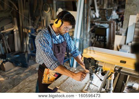 Engineer in workshop