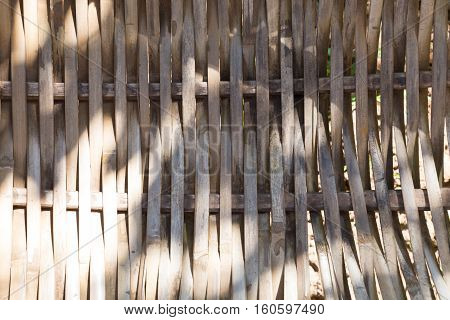 Texture Background Of Old Rattan Cradle