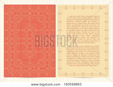 Vector Template For Restaurant Menu, Flyer, Greeting Card, Brochure, Book Cover And Any Other Decora