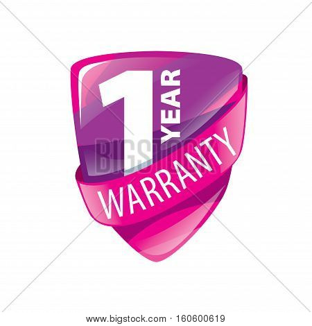 logo 10 years warranty. Vector illustration of icon
