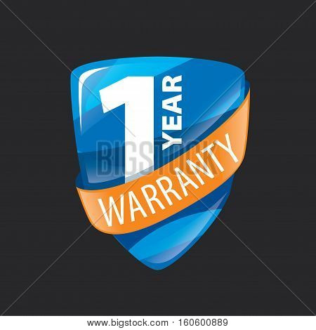 logo 10 years warranty. Vector illustration of icon