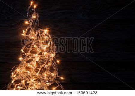 Garland night on empty background