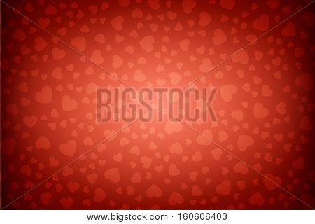 Happy Valentines Day background with hearts pattern ornament. Greeting Card Ready for your design. Vector Illustration.