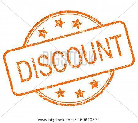 orange Discount rubber stamp  on white background - Illustration