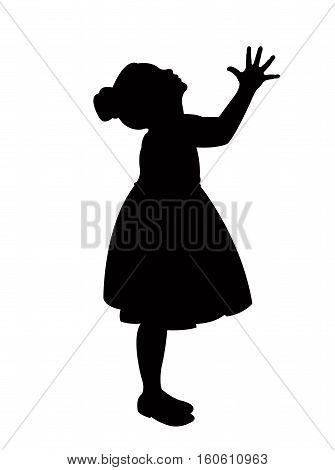 a girl body silhouette vector art work