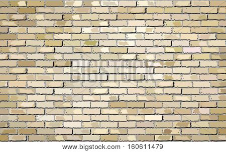 Beige brick wall - Illustration,  Shades of beige brick wall brick wall vector