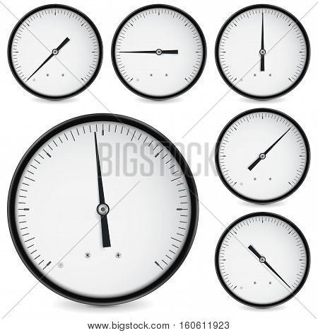 Industrial measuring device, universal use. Vector illustration isolated on white background