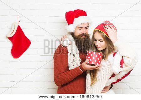 Young Upset Christmas Couple